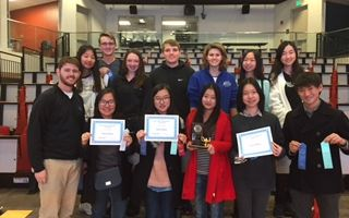 High school math students earned many awards at the John O'Bryan Math Tournament.